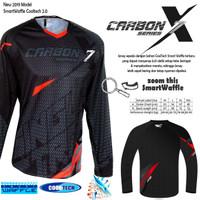 Jersey sepeda STR Carbon X2 Super Adem dijamin CoolTech Waffle