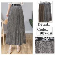 ROK Bawahan 907-1 rok plisket panjang skirt prisket CHANEL