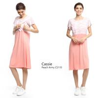 Just Mom Baju menyusui CASSIE peach army CS110