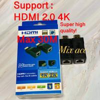 HDMI EXTENDER 30M / 30 METER OVER SINGLE KABEL LAN RJ45 High Quality