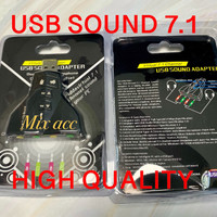 USB SOUNDCARD 7.1 SOUNDCARD USB Mini 7.1 Channel USB 7.1 External