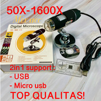 USB Digital Microscope 50-1600X Zoom . Magnifier Lensa Kaca pembesar