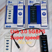 USB HUB 4 Ports 3.0 High Speed Adapter 5Gbps for Laptop PC / Notebook