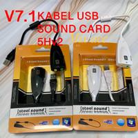 Sound Card USB Virtual 7.1 Channel / Audio Mic Soundcard USB - 5Hv2 -