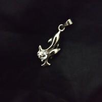 Liontin Titanium Dolphin Diamond Cubic Zirconia HQ