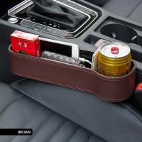 Storage Box Leather Car Organizer Seat Gap For All Car