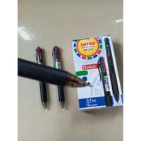 Pulpen 4 Warna Ball Pen 0.7mm Colours 4 in 1 Pen - Joyko BP-213