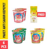 Pop Mie Paket Anti Sahur Kepepet 6 Pcs 450 Gr - GRATIS 1Pc Good to Go