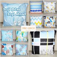EMBIE CUSHION - Sarung Bantal Sofa / Cushion, 40x40 cm, Soft Blue