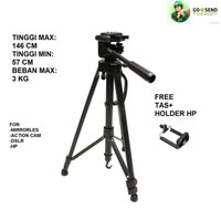 TRIPOD TARGUS BLACK FOR DSLR HP Mirrorless Gopro Takara Somita Excell