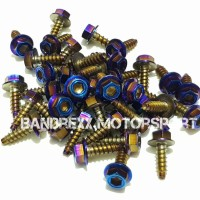Baut Probolt Square Blue for Nmax-Aerox 155-Xmax-Lexi-Nouvo-Mio-R15