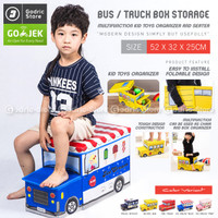 Storage Box Bus Cartoon Kotak Tempat Penyimpanan Toys Mainan Anak Anak
