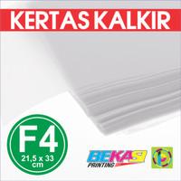 Kertas Kalkir FOLIO F4 (21,5 x 33 cm) C@lcir Tracing Transparan Paper