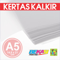 Kertas Kalkir A5 (21 x 14,8 cm) - C@lcir Transparent Tracing Paper