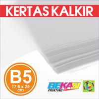 Kertas Kalkir B5 (25 x 17,6 cm) - C@lcir Transparent Tracing Paper