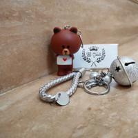 Gantungan Kunci Keychain gift souvenir unik karakter BROWN L.I.N.E