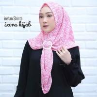 Hijab Jilbab Motif Pesta Non Ped Pad Instan Shinta Original Ixora