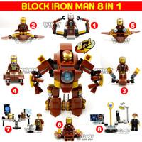 Mainan Block Ironman Iron man Set 8 pcs Blok Lego Compatible