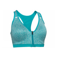 Sport Bra Crivit Front Closure Green