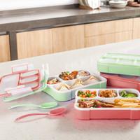 Kotak Makan Yooyee 578 / Lunch Box Bekal Sekat 4 Anti Tumpah Tercampur