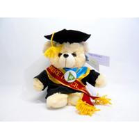 Boneka wisuda Puffy Bear Bordir Baju dan Selendang