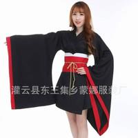 CC-13 black kimono yukata hitam miku vocaloid cosplay costume kostum