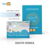 SIM Card Korea Selatan 5 Hari TRUE UNLIMITED - simcard South Korea