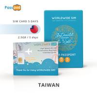 SIM Card Taiwan 5 Hari Unlimited - simcard