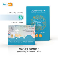 SIM Card Worldwide 5 Hari Unlimited - simcard Multi Countries