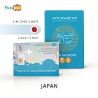 SIM Card Jepang 5 Hari Unlimited - FUP 2.5 GB - simcard Japan