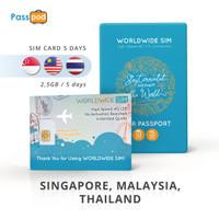 SIM Card Singapore & Malaysia & Thailand 5 Hari Unlimited - simcard