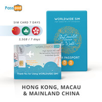 SIM Card Hong Kong & Macau & Mainland China 7 Hari Unlimited - simcard