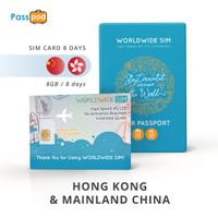 SIM Card Hong Kong & Mainland China 8 Hari Unlimited - simcard