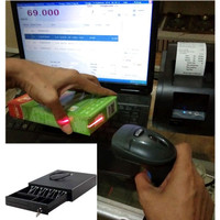 Paket Kasir Hemat Lengkap - Laci + Printer + Scanner + Software