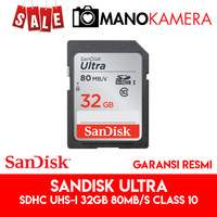 SD Card SanDisk Ultra SDHC UHS-I 32GB 80MBps Class 10