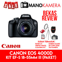 Canon EOS 4000D KIT EF-S 18-55mm III PAKET [BEKAS REVIEW]