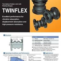 2 inch flexible rubber twinflex tozen flange hitam