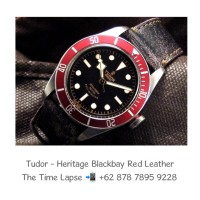 Tudor - Heritage Black Bay Red Leather