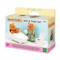 Mainan Koleksi Sylvanian Families Bath and Toilet Set
