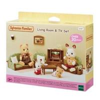 Mainan Koleksi Sylvanian Families Living Room And Tv Set