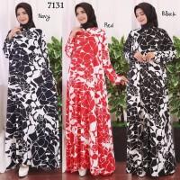 Baju Gamis Wanita Terbaru Gamis Busui Jumbo Jersey Korea 4L 7131