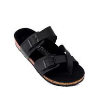 SANDAL JEPIT PRIA TRAGEN CHARCOAL BLACK TRAGEN FOOTWEAR 100% ORIGINAL