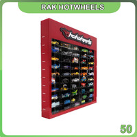 Rak Hotwheels Header Edition Isi 50 Potrait - Merah Hitam