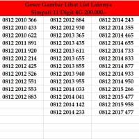 Nomor Cantik Simpati 11 Digit Kartu Perdana Telkomsel Non Indosat xl