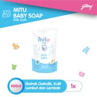 Mitu Baby Liquid Soap Milkbath [Refill 400ml]