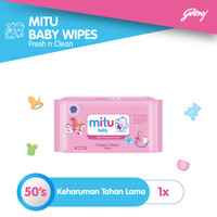 Mitu Baby Wipes Fresh n Clean Pink [50'S]