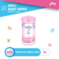 Mitu Baby Wipes Fresh n Clean Pink [Bottle 60'S]