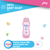 Mitu Baby Liquid Soap 2in1 [Bottle 200ml]