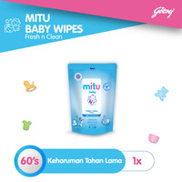 Mitu Baby Wipes Fresh n Clean Blue [Refill 60'S]