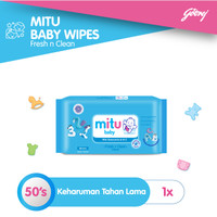 Mitu Baby Wipes Fresh n Clean Blue [50'S]